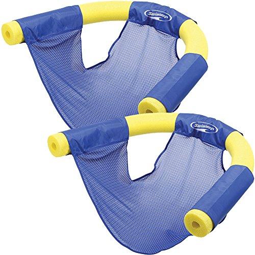 Set2 Swimways Summer Fun Floating Pool Noodle Sling Mesh Chairs - Blue