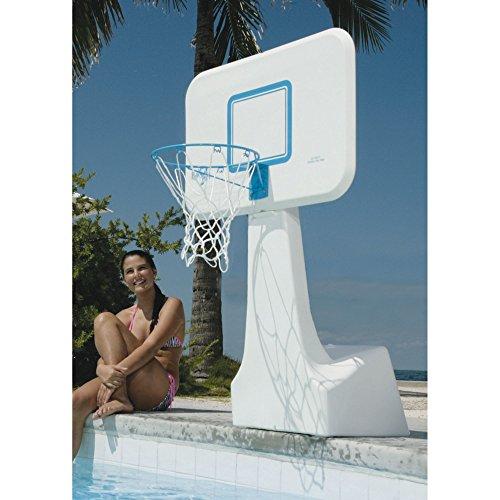 Dunnrite PoolSport Swimming Pool Basketball Hoop with Stainless Steel Rim