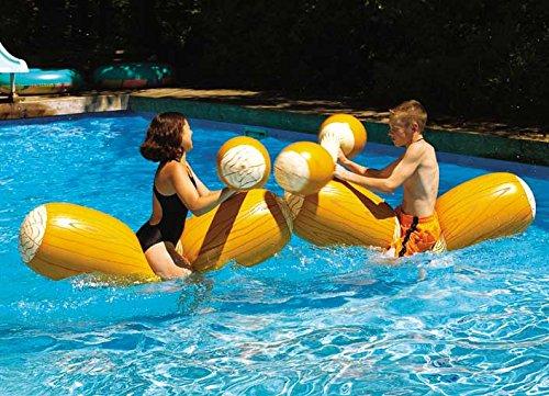 Swimline Log Flume Joust Set Action Inflatable for Swimming Pools 2 Set