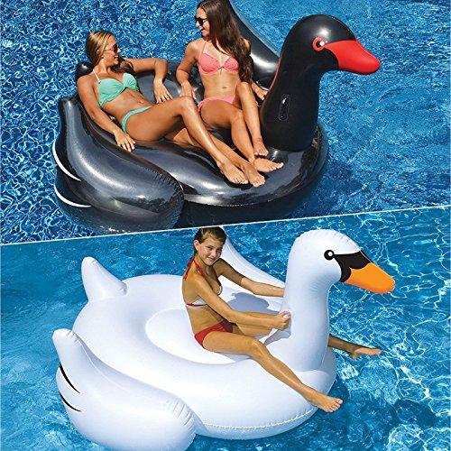 Swimline Black And White Swan Pool Floats - Set of 2