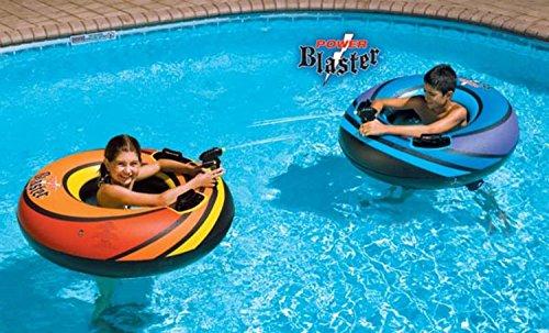 40 Water Sports Inflatable Power Blaster Swimming Pool Inner Tube Squirter Set