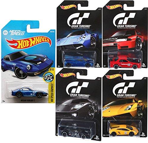 Hot Wheels Gran Turismo Video Game Cars EA Need for Speed car set Ford GT  Pagani  Nissan Skyline  Lamborghini Gallardo  Nissan Fairlady Z