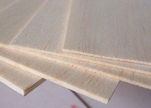 Sangdo BALSA WOOD 10 Sheet 600x100x3mm Wood For Airplane Model Plane repair Kits ZY01