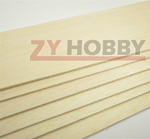 Sangdo BALSA WOOD 10 Sheets 460x80x3mm BEST QUALITY Model Balsa Wood For Airplane Model