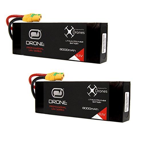 Venom 8000mAh 3S 111V Drone Professional High Capacity Battery 15C LiPo with XT90-S Plug x2 Packs