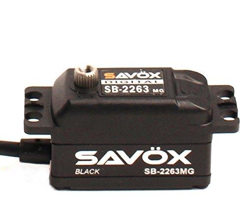 Savox 00761389 Black Edition Low Profile 60V Brushless Digital Servo