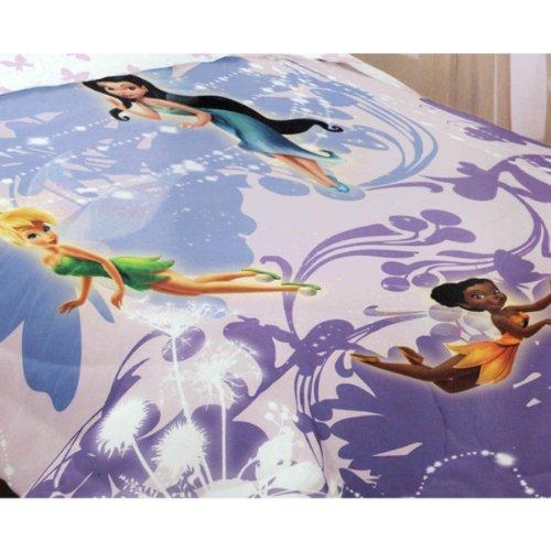 Disney Fairies Twin Size Comforter Purple Decor