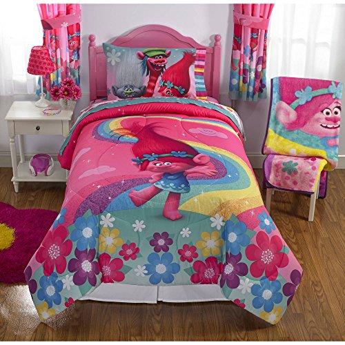 Trolls Twin Size Comforter and Sheet Set