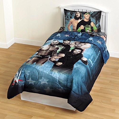 WWE Microfiber Comforter Children Bedding Superstars Twin Size Comforter for Boys
