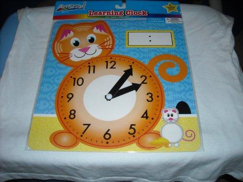 Art Skills - Learning Clock - Cat - Analog Clock - Learn Analog and Digital