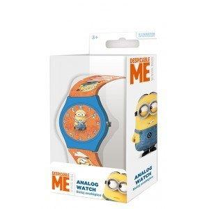 Kids Euroswan - Minions MN011 analog clock with orange metal box by Kids Euroswan