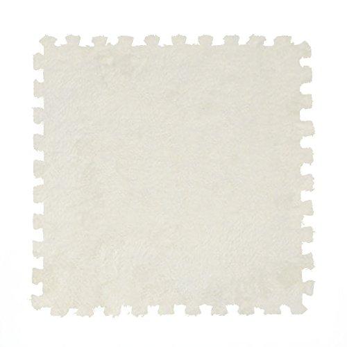 Enoufellama 9pcs Soft EVA Foam Puzzle Floor Baby Kids Play GYM Mats Room Cushion Rugs Cream
