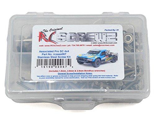 RC Screwz Associated Pro SC 4x4 Stainless Steel Screw Kit