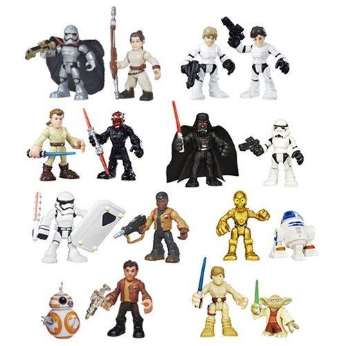 Set of 16 Playskool Star Wars Galactic Heroes Mini Figures