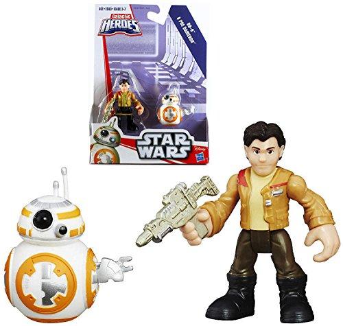 Star Wars Playskool Galactic Heroes Poe Dameron BB-8 Droid Figures 2016