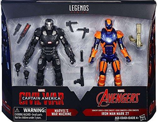 6 Marvel Legends 2016 2 Pack Civil War War Machine Iron Man Mark 27