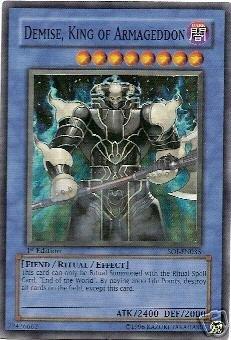 YuGiOh Shadow of Infinity Demise King of Armageddon SOI-EN035 Rare Super Toy