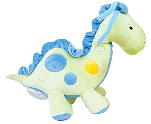 JL DEPOT Baby ToysBlue Dinosaur ToysMusic Baby Plush Dinosaurs