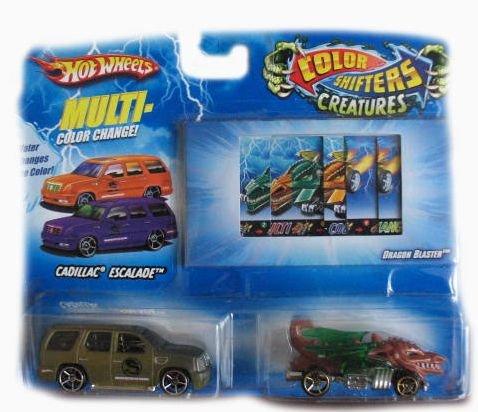 Hot Wheels Color Shifters Creature Cars Cadillac Escalade Dragon Blaster Car Set