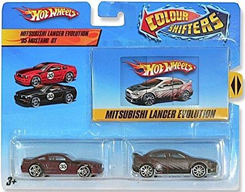 Hot Wheels Color Shifters Mitsubishi Langer Evolution 05 Mustang GT Car Set