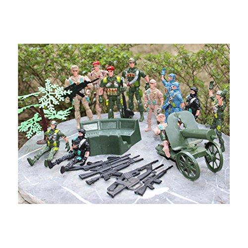 Aspire Army Men Soldier Action Figures Bag Playset 23 Pcs