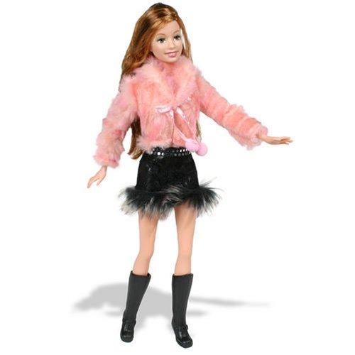 J1413 Fur Pink Jacket Barbie Fashion Fever Doll