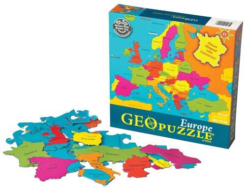 GeoPuzzle Europe Geography Educational Jigsaw Puzzle