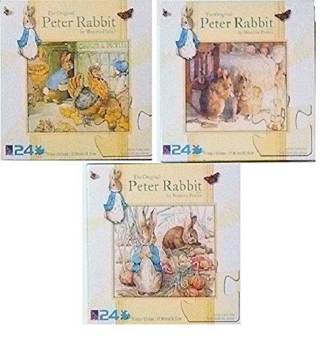 3 New and Different Beatrix Potter Peter Rabbit Puzzles 11 x 95  24 pcs