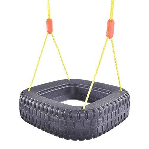 Classic Tire Swing 2 Kids Children Outdoor Play Durable Backyard Swing Set