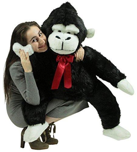 American Made Giant Stuffed Monkey 40 Inch Soft Black Big Stuffed Gorilla Made in USA by BigPlush