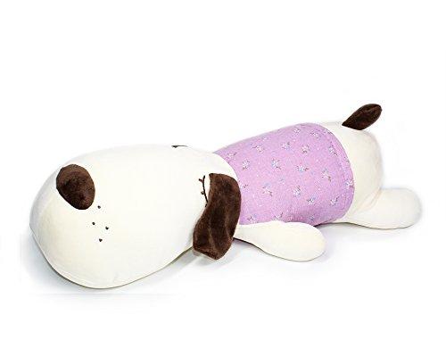 Big Head Dog hugging pillow Stuffed Animals Plush soft Toy Purple Floral Dress 20