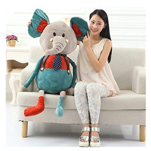 A stuffed toy elephant teacher animal stuffed toy gift women boyfriend stuffed teacher girl toy Size total length 80cm 100cm