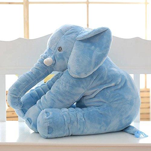 Imagine 60cm Lovely Plush Elephant Toy Soft Toys Stuffed Animal Elephant Doll For Baby Kids Sleeping Baby Calm Doll Blue