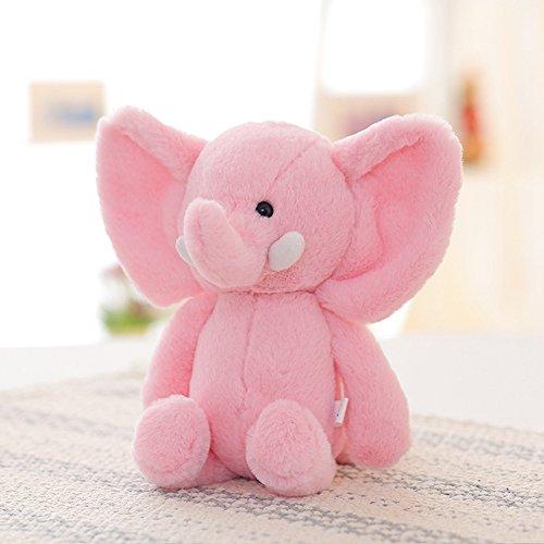 Lanlan 1PCS Soft Cute Cartoon Stuffed Animals Toy Plush Toy for Kids Birthday Christmas Gift Pink Elephant 10 Inch