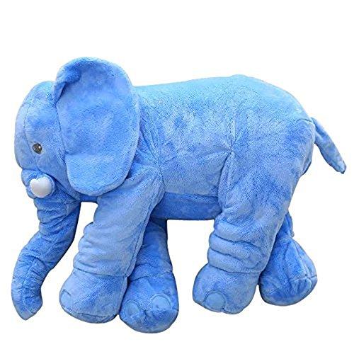 Stuffed Animal Elephant Cute Plush Elephant Pillow Toy Blue 60cm  24inch 60x45x25cm