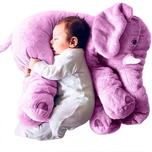 Stuffed Elephant Plush Pillow Toy Purple 2460cm