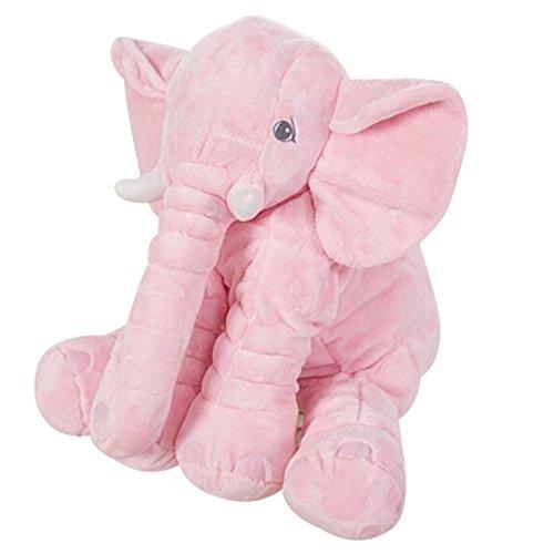 Stuffed Toys Elephant Cartoon Model Building Toy Plush Pink