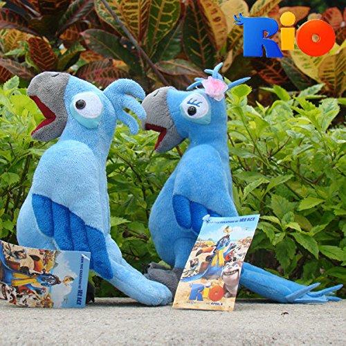 Rio Plush Toy Jewel Blu 2PCS Movie Character Blu Parrot Stuffed Animal Doll