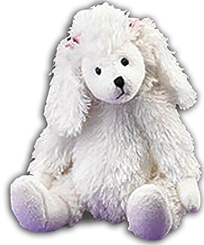 Boyds Plush Lil Fuzzies Abbey White Poodle Puppy Dog Stuffed Animal