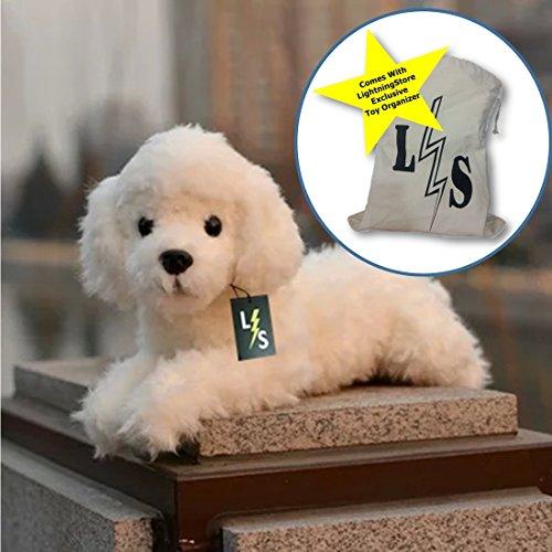 LightningStore Cute Adorable Poodle White Stuffed Toy Doll Plush Animal  Toy Organizer Bag Bundle