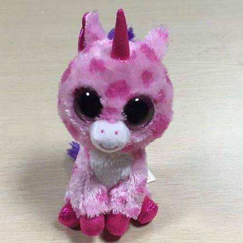 Nickys Gift LanLan Ty Beanie Boo Sugar Pie Pink Unicorn Soft Toy No Tag