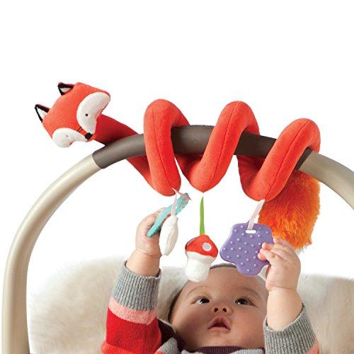 Manhattan Toy Travel  Comfort Fox Activity Spiral Baby Toy