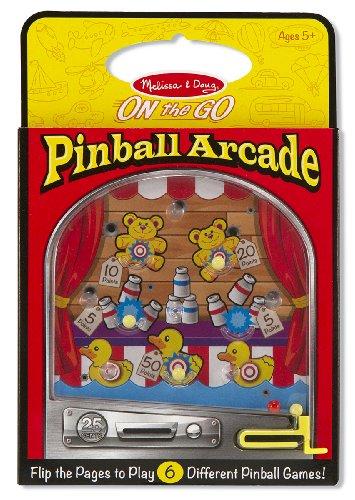 Melissa Doug Pinball Arcade - Travel Toy With 6 Pinball Games