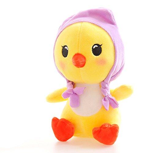 BestTopPlus Plush Toy 7cute Plush Toy Small Yellow Chicken Plush Toy Soft Stuffed Animal DollPurple