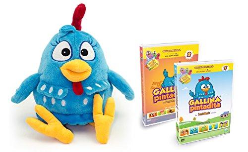 Combo Pack Lottie Dottie Chicken Plush Toy  DVD Vol 1 Multilanguage  DVD Vol 2 Multilanguage by Bromelia