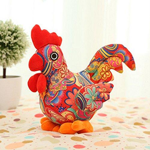 Creativity Lovers Chicken Plush Toys Chinese Zodiac Doll Cock Cloth doll Animals Stuffed Plush Kids Toys Christmas Gift Yellow
