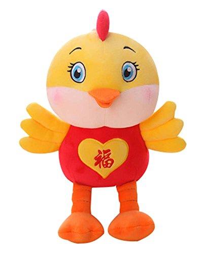 Fu word Creative Birthday Gift Cute Mascot Pillow Doll Chicken Plush Toy