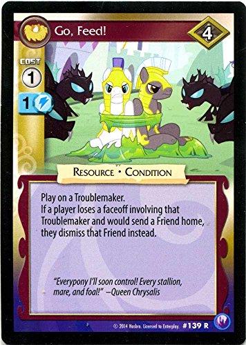 My Little Pony Canterlot Nights Single Card Rare Go Feed 139