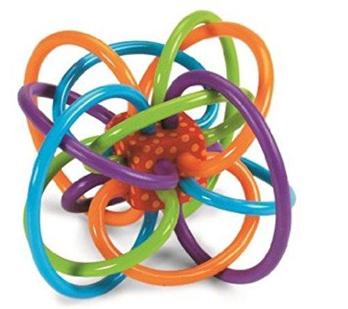 Manhattan Toy Winkel Rattle and Sensory Teether Activity Toy 2pk
