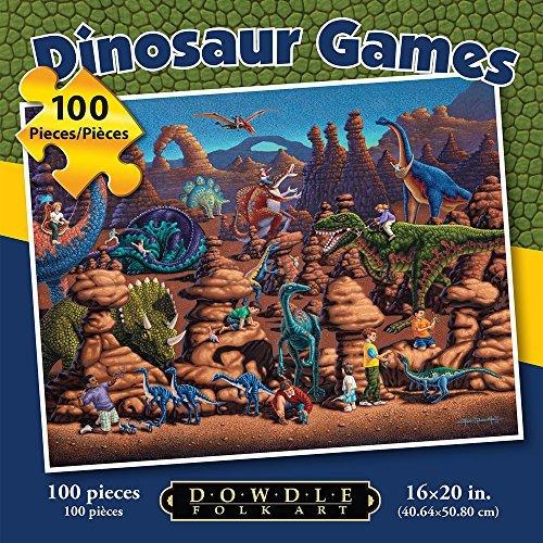 Jigsaw Puzzle - Dinosaur Games 100 Pc By Dowdle Folk Art by Dowdle Folk Art